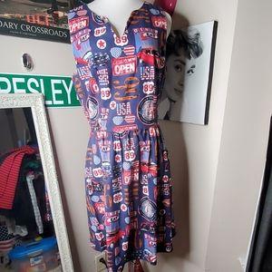 Pinup, Classic Car, Patriotic Dress